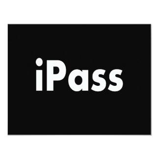 "iPASS 4.25"" X 5.5"" Invitation Card"