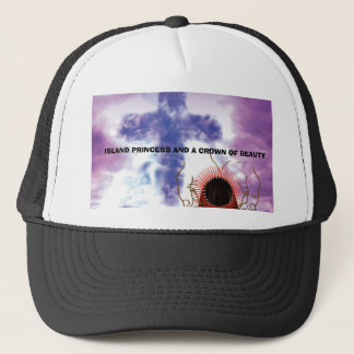 IPCB_finalcover, ISLAND PRINCESS AND A CROWN OF... Trucker Hat