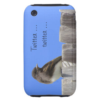 iPhone3 CM/Tgh - Flycatcher on fence iPhone 3 Tough Case