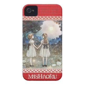 "iPhone4&4S case/MISHAORU ""SAYONARA NO MORI "" iPhone 4 Cover"