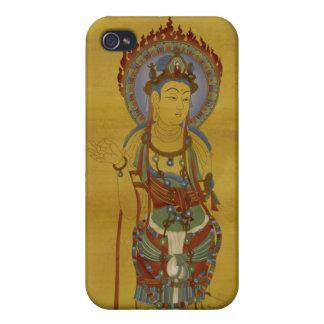 iPhone4 - Fire Mandala Buddha Bamboo Background Case For iPhone 4