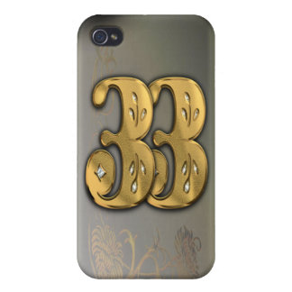 iPhone4 Victorian Gold Number 33 Speck Case Covers For iPhone 4