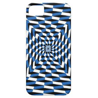 iphone5 case Optical Illusion Brain Teaser blue