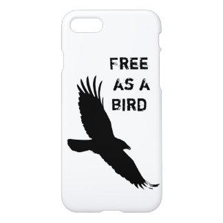"iPhone7 case ""Free as a bird""."