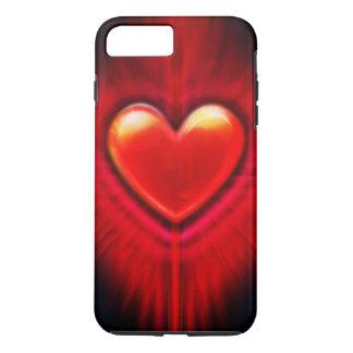 iPhone8 Plus/7 Plus case Red & black heart design.