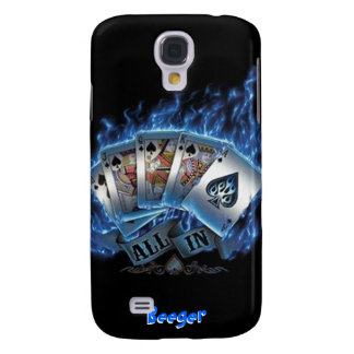 IPhone 3 Case- Royal Flush with Blue Flames Samsung Galaxy S4 Covers