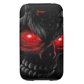 Iphone 3 tough - Flesh Skull with Glowing Eyes Tough iPhone 3 Case