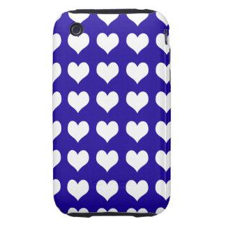 iPhone 3G 3GS Case-mate Tough Case Blue Hearts iPhone 3 Tough Cases