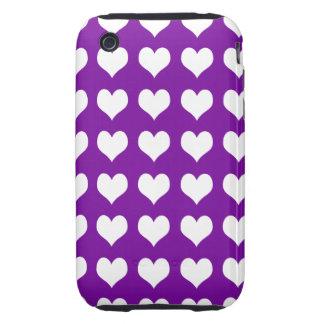 iPhone 3G/3GS Case-mate Tough Case Purple Hearts iPhone 3 Tough Cases