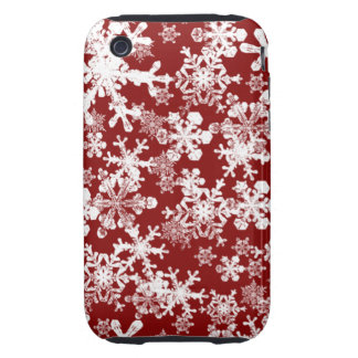 iPhone 3G/3GS Case-mate Tough Case Red Snowflakes Tough iPhone 3 Covers
