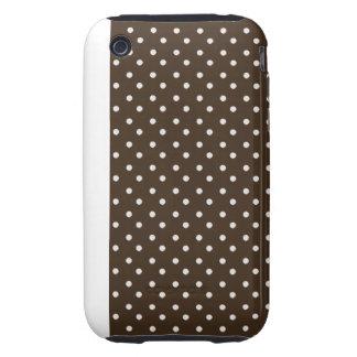 iPhone 3G 3GS Case-mate Tough Case White Polka Dot Tough iPhone 3 Covers