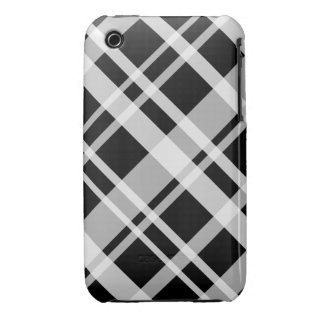 iPhone 3G Black Plaid Pattern Barely There iPhone 3 Case-Mate Case