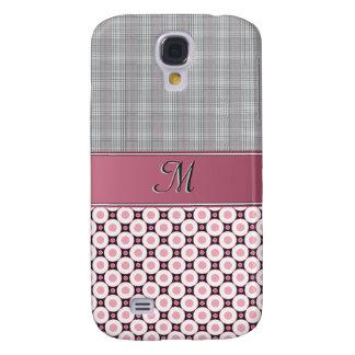 IPhone 3G Case - Monogram Pink Plaid & Circles