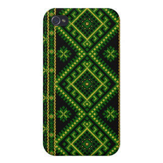 iPhone 4 / 4S Case Fabric Print Ukrainian Pattern iPhone 4 Cover