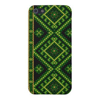 iPhone 4 / 4S Case Fabric Print Ukrainian Pattern Case For iPhone 5