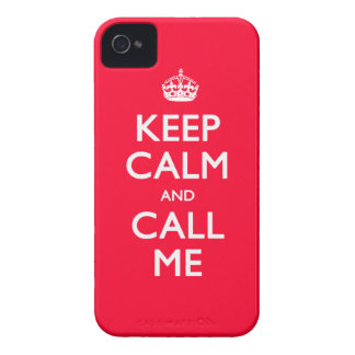 iPhone 4/4S Case-Mate Keep Calm and Call Me