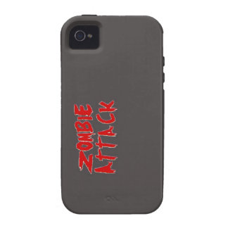 Iphone 4/4s cover black, Zombie Attack