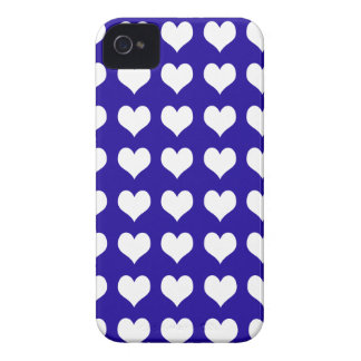 iPhone 4/4s Custom Case-Mate Blue with Hearts iPhone 4 Case-Mate Cases