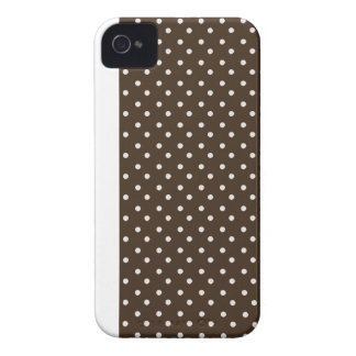 iPhone 4/4s Custom Case-Mate Brown with Dots iPhone 4 Case