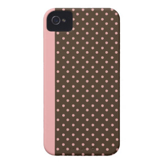 iPhone 4/4s Custom Case-Mate Brown with Pink Dots Case-Mate iPhone 4 Cases