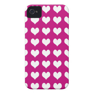 iPhone 4/4s Custom Case-Mate Pink with Hearts iPhone 4 Cases