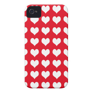 iPhone 4/4s Custom Case-Mate Red with Hearts Case-Mate iPhone 4 Case