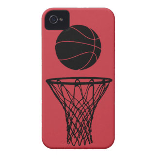 iPhone 4 Basketball Silhouette Bulls Red iPhone 4 Cases