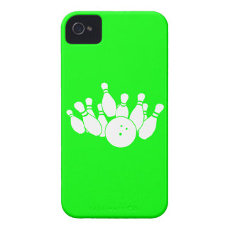 iPhone 4 Bowling Silhouette Green iPhone 4 Case-Mate Case