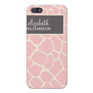 iPhone 4 Case Baby Pink Giraffe Pattern