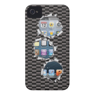 iPhone 4 case Carbon iPhone Screen Bullet Hole 3D