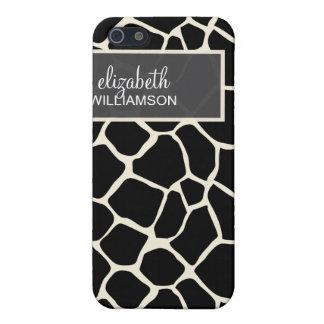 iPhone 4 Case Ebony Giraffe Pattern