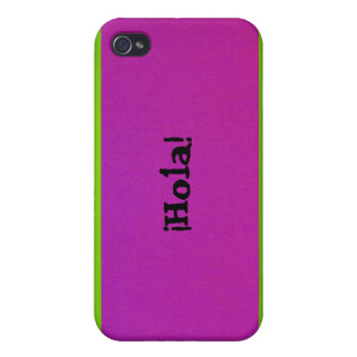 iPhone 4 Case - ¡Hola! - Pink and Green