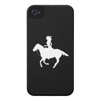 iPhone 4 Case-Mate Cowgirl 3 Silhouette Black