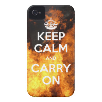 iPhone 4 Case-Mate Keep Calm and Carry On Fire