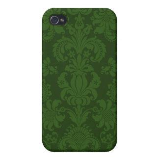 iPhone 4 Case Pattern Green Damask