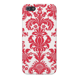iPhone 4 Case Pattern Red Damask