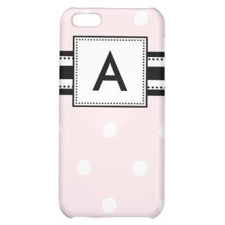 iPhone 4 Case Personalized Monogram Pink Polka Dot