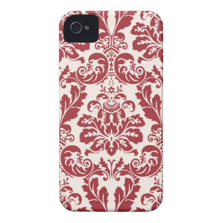iphone 4 case...red and white damask iPhone 4 covers