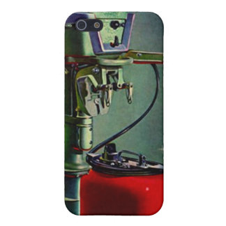 iPhone 4 Case Retro fishing boat motor red tank