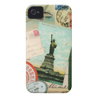 iphone 4 case.. .Vintage travel stamps iPhone 4 Cases