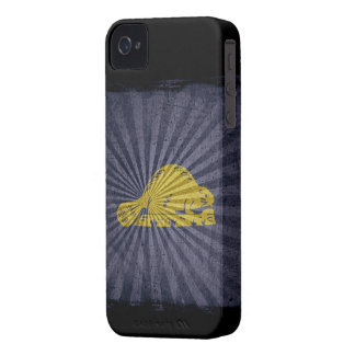 Iphone 4 Case with state flag of Oregon (back)