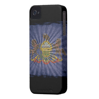 Iphone 4 Case with state flag of Pennsylvania