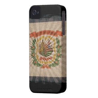 Iphone 4 Case with state flag of West Virginia