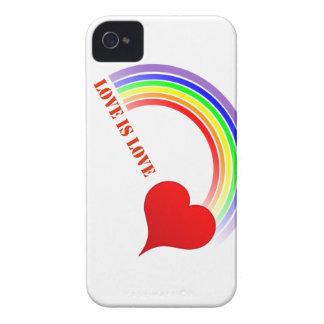 iPhone 4 Cover LOVE IS LOVE Rainbow Heart