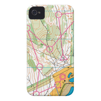 iPhone 4 cover - Orienteering map