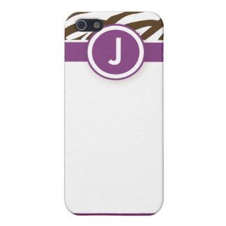 iPhone 4 Funky Zebra Print Case Purple/Chocolate iPhone 5/5S Covers