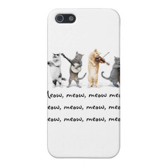 IPhone 4 G  / Singing Cats / Meow, Meow , Meow Case For The iPhone 5