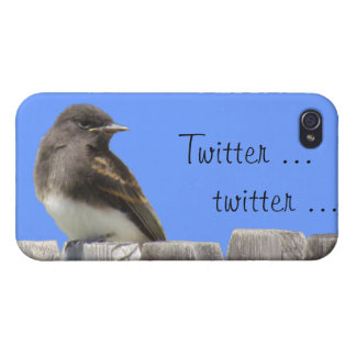 iPhone 4 Savvy - Flycatcher on fence Covers For iPhone 4