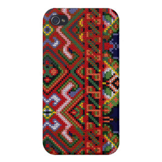iPhone 4 Ukrainian Cross Stitch Print Hard Case Cases For iPhone 4