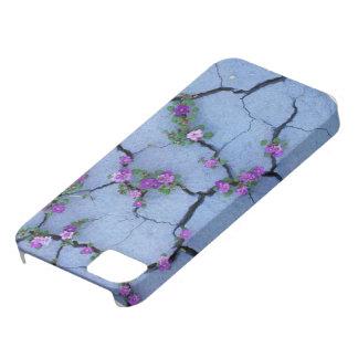 Iphone 5/5S case beautiful purple Flower caracks